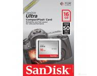 Карта памяти CompactFlash 16 Gb Sandisk Ultra 50Mb/s фото 1