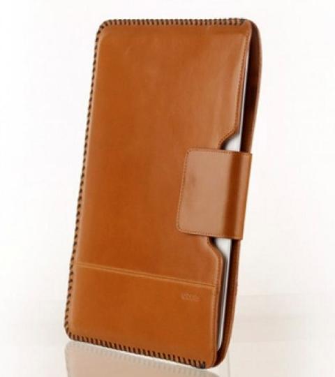 Чехол кожаный Zenus Prestige Hand Crafted Stitch Pouch для Apple iPad 2 / iPad 3 / iPad 4 коричневый
