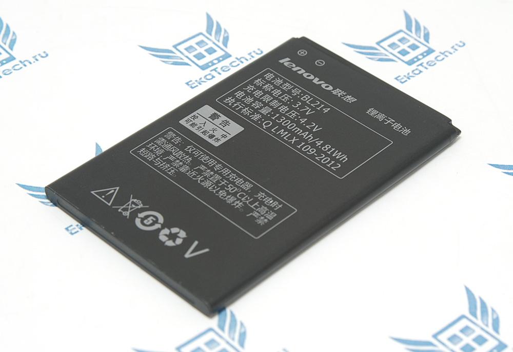 Аккумулятор Lenovo BL214 для A208T / A218T/ A269/ A361 / A316i Megafon Login 2 1300 mAh