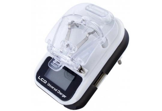 Универсальное зарядное устройство для аккумуляторов (типа лягушка) с дисплеем фото 1
