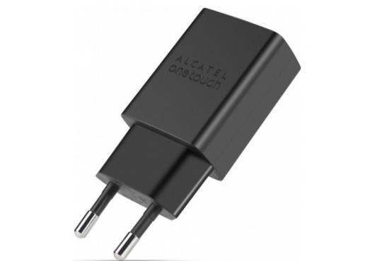 Сетевое зарядное устройство Alcatel One Touch UC11 5V/1A c кабелем MicroUSB черное фото 1