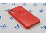 Чехол-накладка Silicone Case для Apple iPhone X красная фото 1