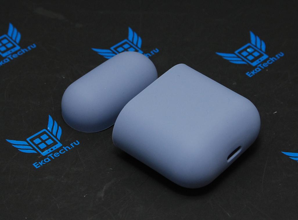 Чехол Silicone Case для наушников Apple AirPods, силиконовый, синий