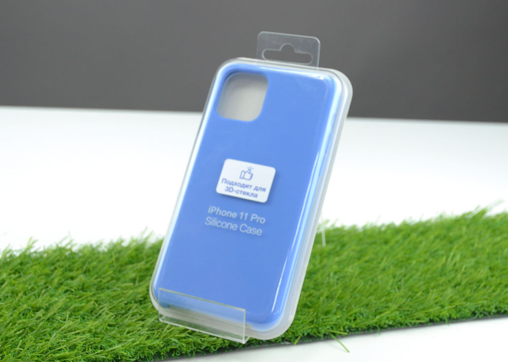 Чехол Silicone Case для Apple iPhone 11 Pro, голубой