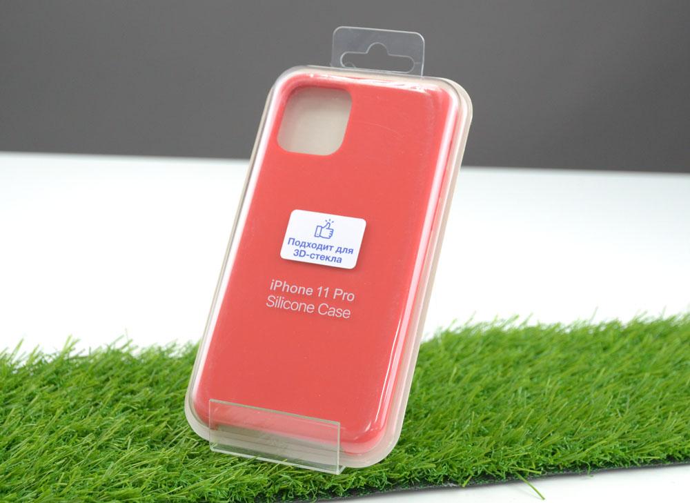 Чехол Silicone Case для Apple iPhone 11 Pro, красный
