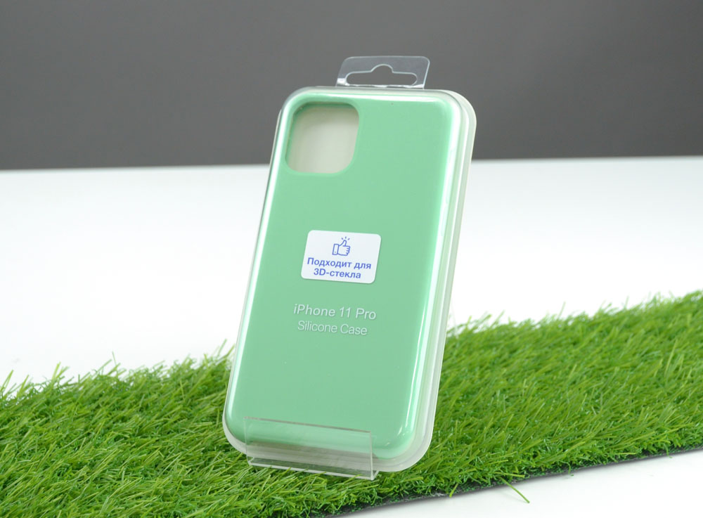 Чехол Silicone Case для Apple iPhone 11 Pro, светло-зеленый