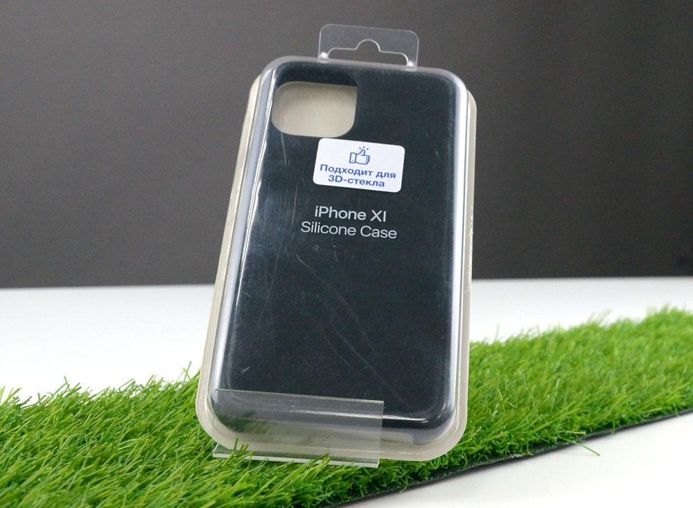 Чехол Silicone Case для Apple iPhone 11 Pro, черный