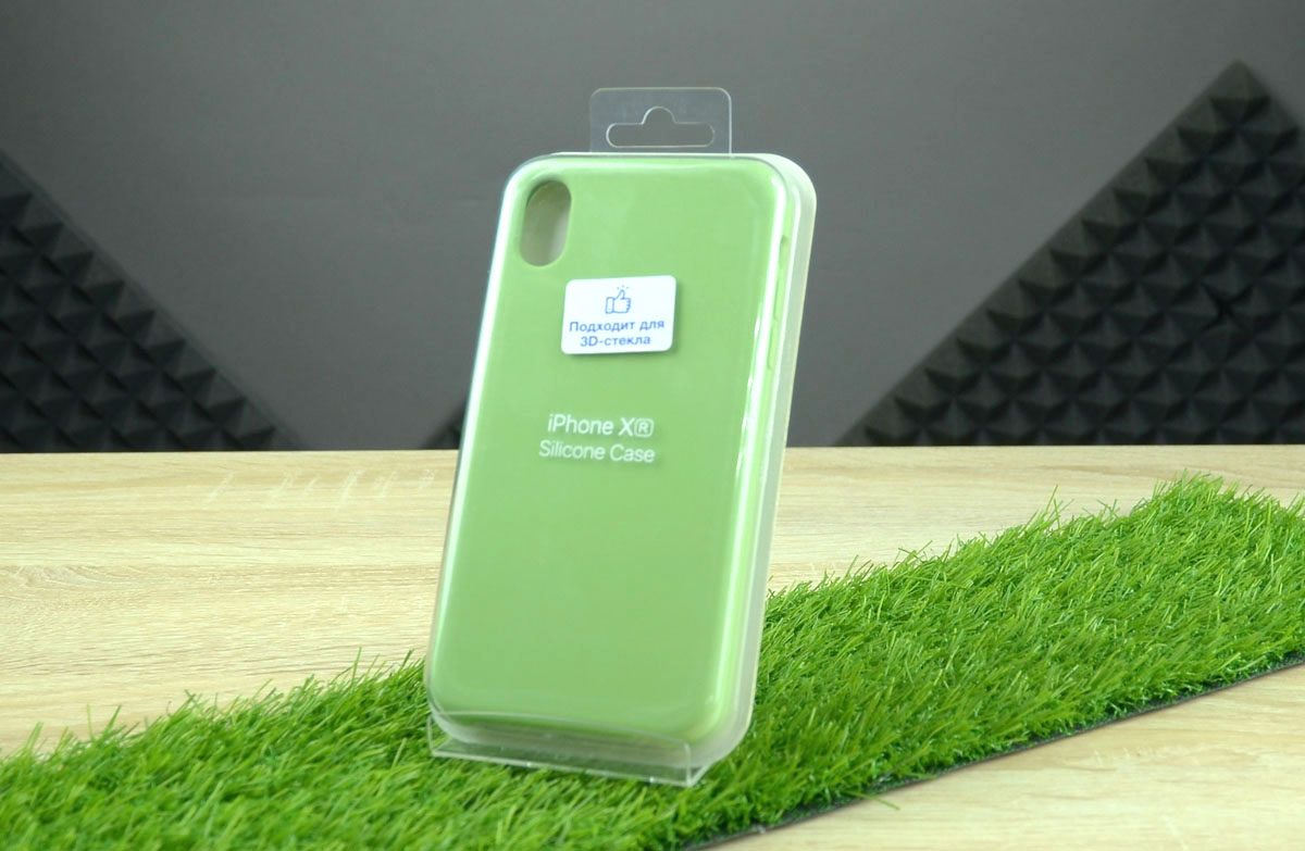 Чехол Silicone Case для Apple iPhone XR, зеленый