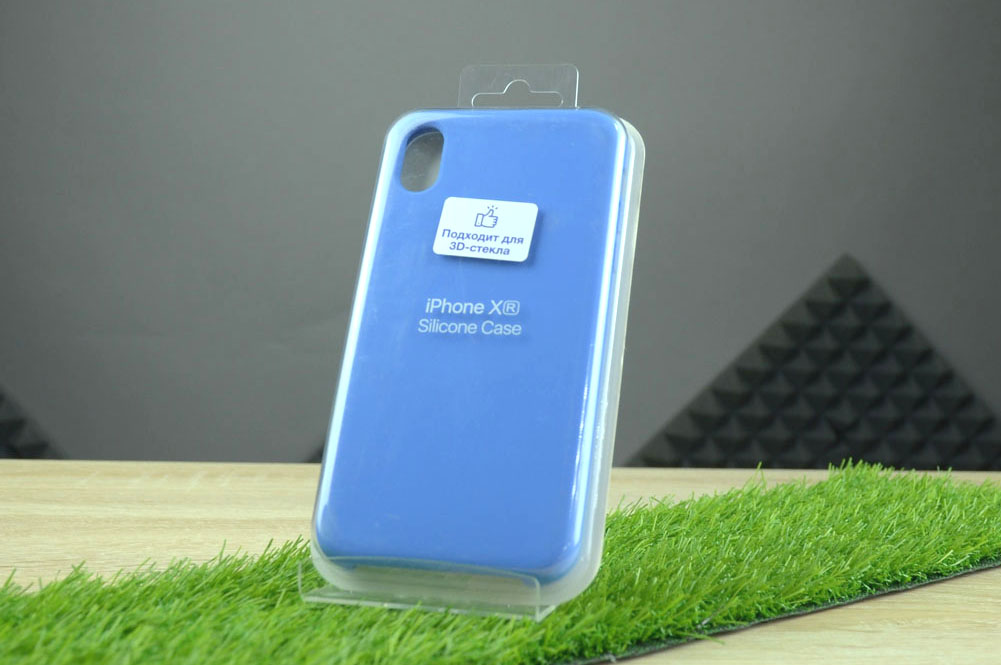 Чехол Silicone Case для Apple iPhone XR, синий