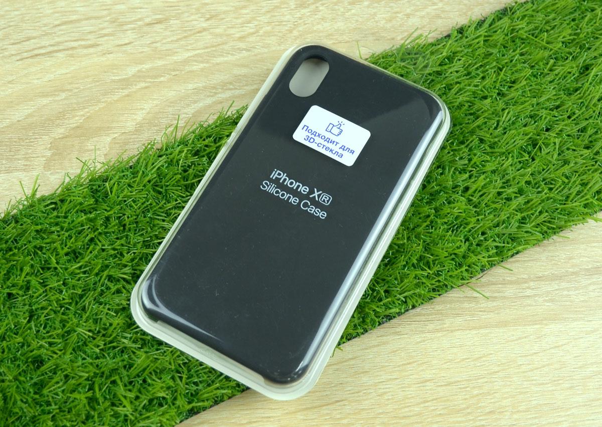 Чехол Silicone Case для Apple iPhone XR, черный