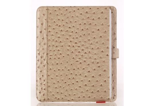 Чехол Zenus Masstige Deluxe Ostrich Pouch для Apple iPad 2 / iPad 3 / iPad 4 бежевый фото 1