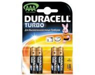 Батарейка Duracell Turbo AAA упаковка 4 шт фото 1